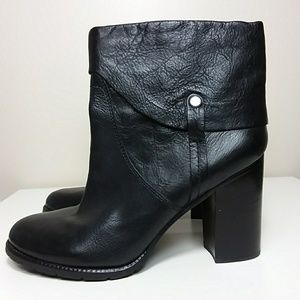 Franco Sarto Shoes - Franco Sarto Black Leather Booties Sz 12
